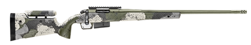 "Springfield Model 2020 Waypoint 6.5 PRC, 24"" Fluted Stainless Barrel, SA Radial Brake, Green, Mil-Spec Green Cerakote, Evergreen Camo Adj Carbon Fiber Stock M-LOK, TriggerTech Adj Trigger, AICS 3rd Mag"