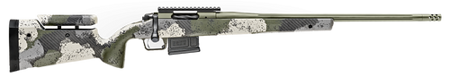 "Springfield Model 2020 Waypoint 6.5MM Creedmoor, 22"" Fluted Stainless Barrel, SA Radial Brake, Green, Mil-Spec Green Cerakote, Evergreen Camo Adj Carbon Fiber Stock M-LOK, TriggerTech Adj Trigger, AICS 5rd Mag"