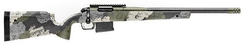 "Springfield Model 2020 Waypoint 6MM Creedmoor, 20"" Carbon Fiber Barrel, SA Radial Brake, Green, Mil-Spec Green Cerakote, Evergreen Camo Carbon Fiber Stock M-LOK, TriggerTech Adj Trigger, AICS 5rd Mag"