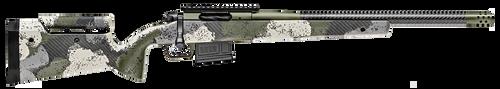 "Springfield Model 2020 Waypoint 308 Win, 20"" Carbon Fiber Barrel, SA Radial Brake, Green, Mil-Spec Green Cerakote, Evergreen Camo Adj Carbon Fiber Stock M-LOK, TriggerTech Adj Trigger, AICS 5rd Mag"