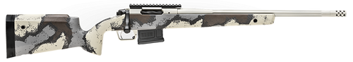 "Springfield Model 2020 Waypoint 6MM Creedmoor, 20"" Fluted Stainless Barrel, SA Radial Brake, Tan, Desert Verde Cerakote, Ridgeline Camo Carbon Fiber Stock M-LOK, TriggerTech Adj Trigger, AICS 5rd Mag"