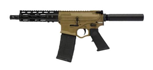 "ATI Omni Hybrid Maxx Pistol .223/5.56, 7.5"" Barrel, KeyMod, Buffer Tube/No Brace, FDE, 30rd"