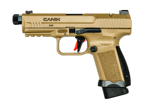 "Canik TP9 Elite Combat 9mm, 4.8"" Barrel, Flat Dark Earth, 15rd"