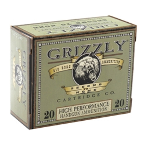 Grizzly 9mm +P, Jacketed Hollow Point, 124gr, 20rd Box