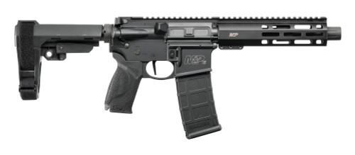 "Smith & Wesson M&P15 Pistol 5.56/.223, 7.5"" Barrel, SBA3, Black, 30rd"