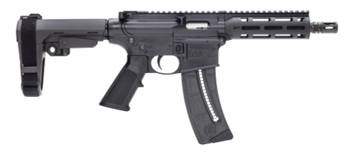 "Smith & Wesson M&P15-22 Pistol .22 LR, 8"" Barrel, SBA3, Black, 25rd"