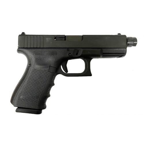 "Glock, 19 Gen4, M.O.S, Striker Fired, Compact, 9mm, 4.02"" Threaded Barrel, Polymer Frame, Matte Finish, Fixed Sights, 15Rd, 3 Magazines"