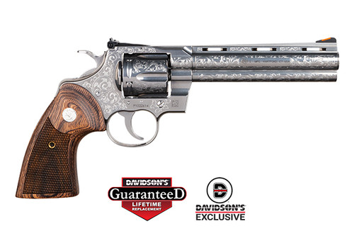 "Colt Python Engraved Limited Edition 357 Mag/38 Spl 6"" Barrel Stainless Steel, Armory Grade Cut Engraved Special Edition"