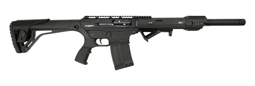 "LKCI AR-12 12 Ga, 20"" Barrel, Includes Flip-Up Sights, Black"