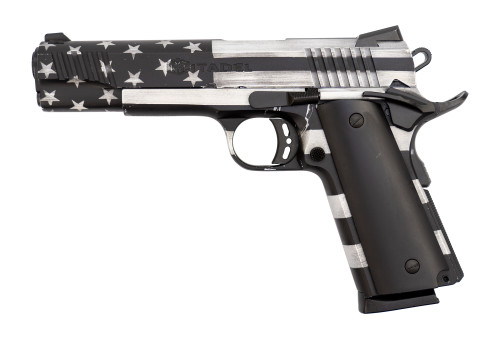 "Citadel M1911-A1 Used .45 ACP, 5"" Barrel,  G10 Grips, American Flag, 8rd"