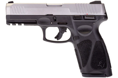 "Taurus G3 9mm, 4"" Barrel,  Manual Safety, SS/Black, 15/17rd"