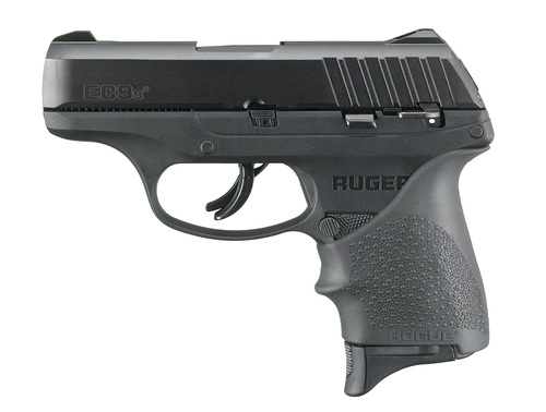 "Ruger EC9s 9mm, 3,1"" Barrel, Hogue Grip, Manual Safety, Black, 7rd"