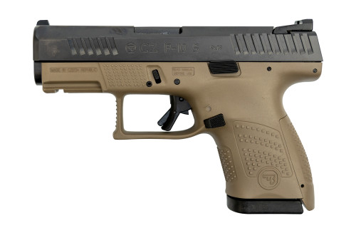 "CZ P-10 Sub Compact 9mm, 3.5"" Barrel, Fixed Sights, Flat Dark Earth, 12rd"