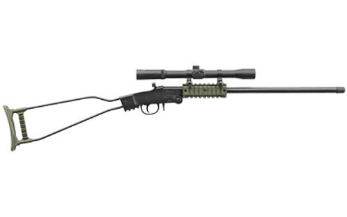 "Chiappa Little Badger Rifle 22LR Black/OD Green, 16.5"" Threaded Barrell, w/ 4X20 Scope"