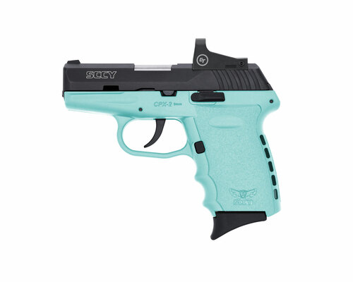 "SCCY CPX-2 9mm, 3.1"" Barrel, CTS-1500 RDS, Robin Egg Blue, 10rd"