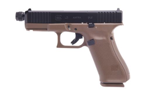 "Glock 45 Gen5 MOS AUS 9mm, 4"" Threaded Barrel, FDE, 17rd"
