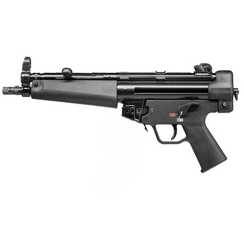 """HK SP5 9mm, 8.9"""" Barrel, Aluminum Frame, Black, 10 Round, 2 Mags, Threaded, Ambidextrous Safety"""