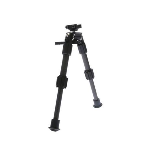 "Truglo, Tac-Pod Carbon Pro Bi-Pod, Carbon Fiber and Aluminum Construction  Rubber Feet, Pivoting Base and Rotating Design Allows for Ease Shooting Angle Adjustment, 6-9"" Leg Length, Picatinny Rail Mount"