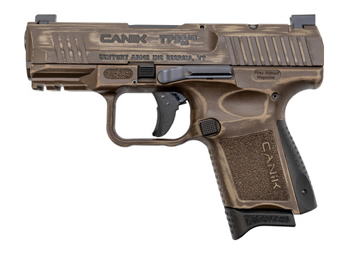 "CANIK TP9 Elite SC Trophy 9mm, 3.6"" MG Barrel, Contrast Sights, Bronze, 12rd"
