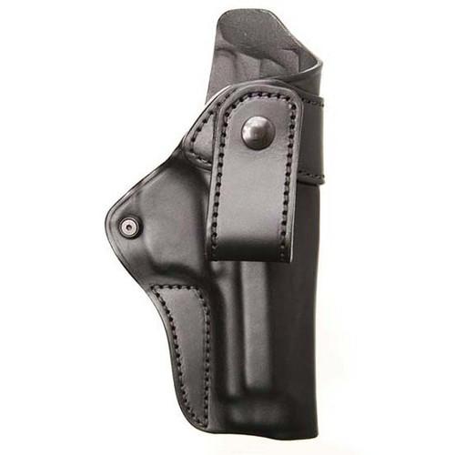 """Blackhawk IWB Leather Holster, M&P Shield 3.3"""", RH, Black"""