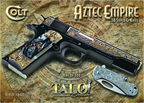Colt 1911 Government .38 Super, TALO Exclusive, Aztec Empire, 1 of 500
