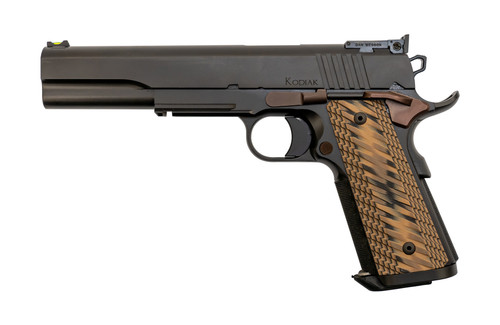 "Dan Wesson Kodiak Demo-Model 10mm, 6"" Barrel, Brown G10, Black, 8rd"