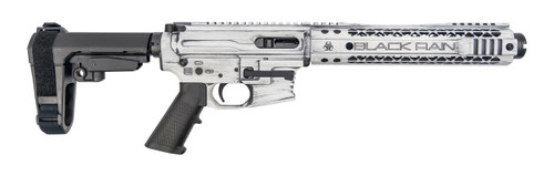 Black Rain Ordnance AR-9 Pistol 9mm, Rear Charging, SBA3, White