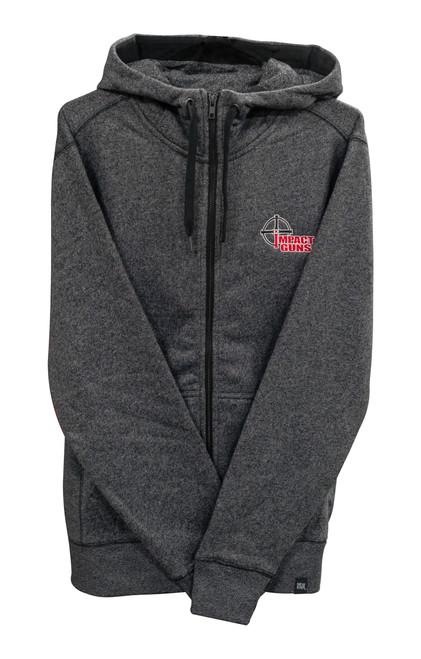 Impact Guns Zip Up Sweatshirt, Black Twist, Medium