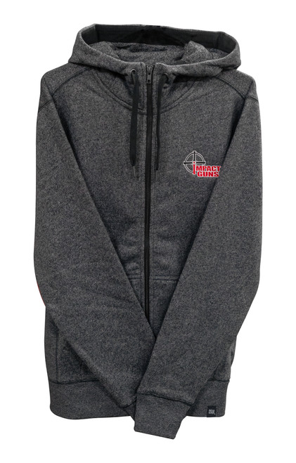 Impact Guns Zip Up Sweatshirt, Black Twist, 2XL