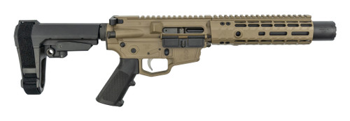 """MCM DS9K Integrally Suppressed 9mm, 8.75"""" Barrel, Rear Charge, FDE, 30rd"""