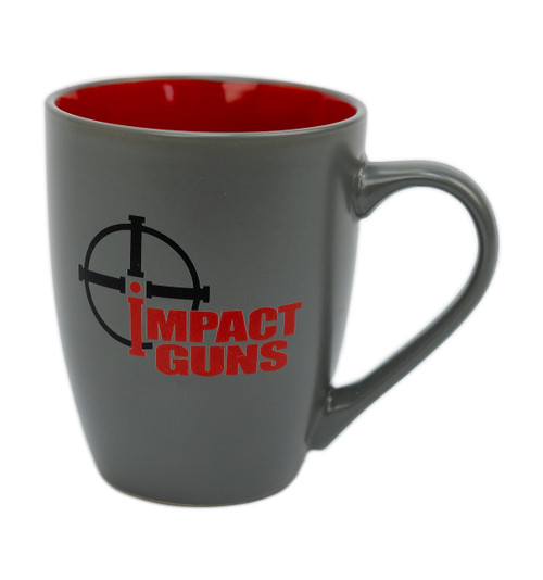 Impact Guns Coffee Mug, Red/Gray