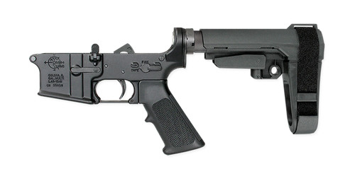 Rock River Arms Lower Receiver Stamped 6.8 SPC With Pistol Brace