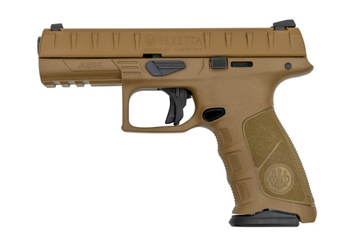 "Beretta APX FS Used 9mm, 4.25"" Barrel, 3-Dot, FDE, 17rd"
