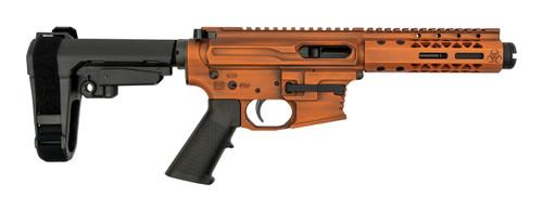 "Black Rain Ordnance Fallout CQB 9mm, 4"" Barrel, SBA3, Tequila Sunrise Cerakote, 30rd"