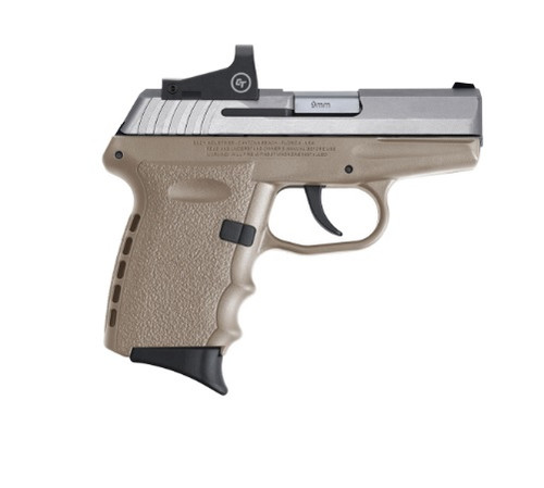 "SCCY CPX-2 9mm, 3.1"" Barrel, CT RDS, SS/FDE, 10rd"