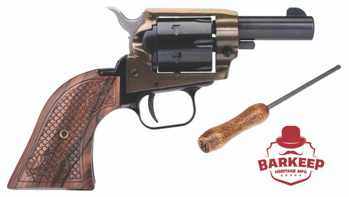 "Heritage Rough Rider Barkeep .22 LR, 2"" Barrel, Wood Grips, Simulated Case Hardened, 6rd"