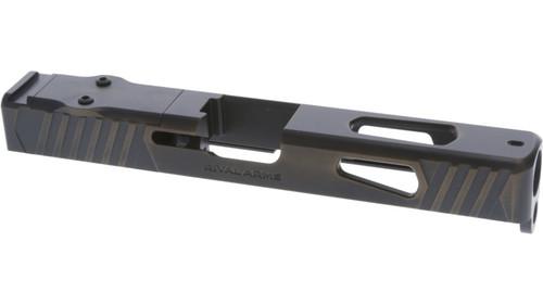Rival Arms Glock 17 Gen3 Slide, Docter/Noblex Cut, Battle Bronze