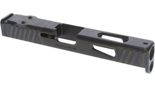 Rival Arms Glock 17 Gen4 Slide, Docter/Noblex Cut, Battle Bronze