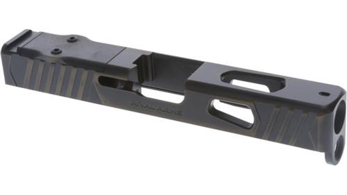 Rival Arms Glock 19 Gen4 Slide, Docter/Noblex Cut, Battle Bronze