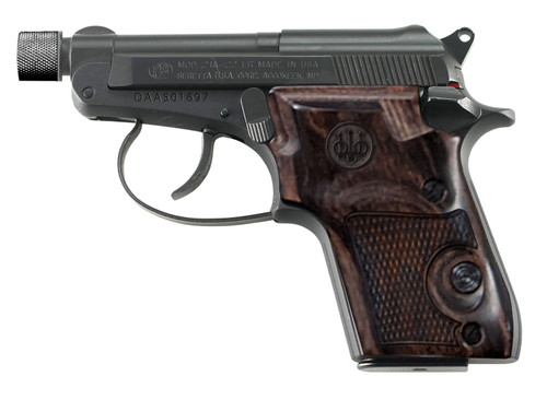 "Beretta 21A Bobcat Covert .22 LR, 2.9"" Threaded Barrel, Walnut, Black, 7rd"