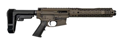"Black Rain Ordnance Fallout CQB 9mm, 9"" Barrel, SBA3, Tiger's Eye Battleworn, 30rd"
