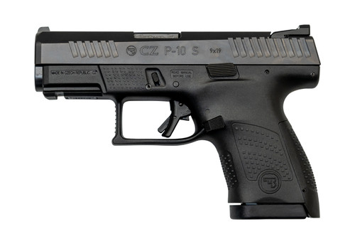 "CZ P-10 Sub Compact 9mm, 3.5"" Barrel, Fixed Sights, Black, 10rd"