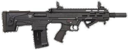 "Landor Arms Bullpup 12 Ga 3"", 18.5"" Barrel, Black, Fixed Bullpup Stock, Flip Sights"