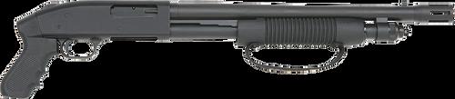 "Mossberg 590, Cruiser 12 Ga, 3"" Chamber, 18.5"" Cylinder Barrel, Blue Finish, Pistol Grip, 7Rd, Bead Sight"