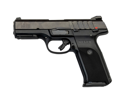 "Ruger SR9E Used 9mm, 4"" Barrel, 3-Dot Sights, Black, 2x17rd"