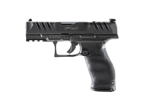 "Walther, PDP, Optics Ready Polymer Frame, Striker Fired, Full Size Frame, 9mm, 4"" Barrel, Black, Adjustable Rear Sight, 18Rd"