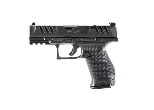 "Walther, PDP, Optics Ready, Semi-automatic, Polymer Frame, Striker Fired, Compact Frame, 9mm, 4"" Barrel, Black, Adjustable Rear Sight, 15Rd"
