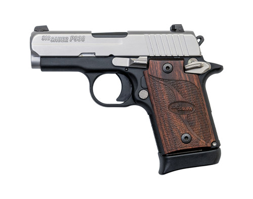 "Sig P938 SAS Used 9mm, 3"" Barrel, Siglite, Walnut, SS/Black, 6rd"