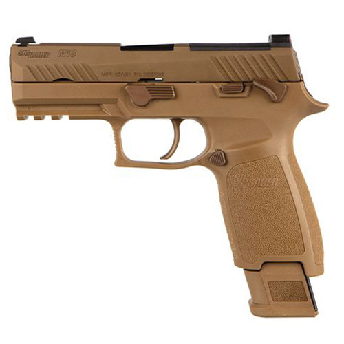 "Sig Sauer, P320, M18 Commemorative, Striker Fired, 9mm, 3.9"" Barrel, Polymer, Night Sights, Anti-Corrosion Internal Coatings Matching the U.S. Army Service Pistol, Call-in Code for Serialized M18 Coin and Certificate Matching Unique M18 Serial Number, 1-1"