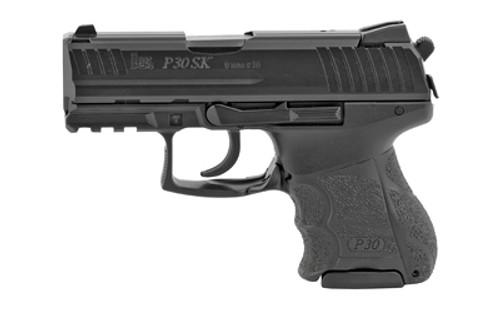 """HK P30SK V3 9mm, 3.27"""" Barrel, Decocker, 3-Dot Sights, Black, 10rd/13rd"""